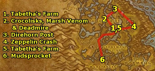 wow how to get to dustwallow marsh from orgrimmar