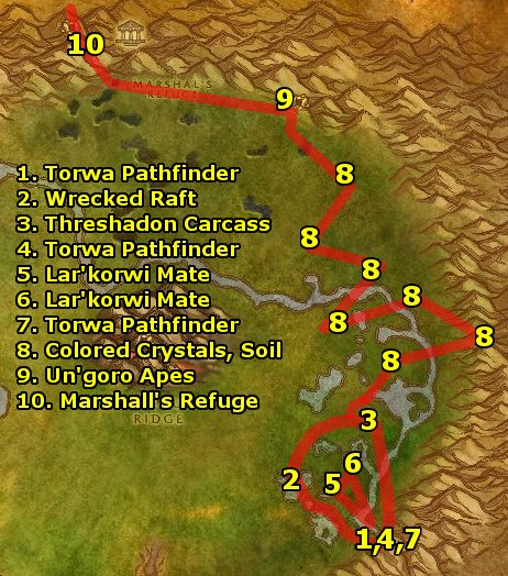 Ding80's Horde Un'Goro Crater Guide Part 1 Level 55