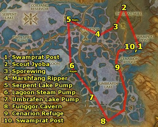 world warcraft leveling guide zangarmarsh